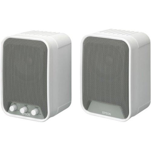 Epson Active Speakers - ELPSP02 - loudspeakers (AC, 100 - 240 V, 50 - 60 Hz, Wall-mountable, Other, Built-in)
