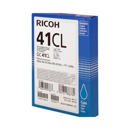 Ricoh GC41CL 405766 Light User Cyan Gel Ink Cartridge