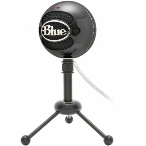 Blue Microphones Snowball Omnidirectional/Cardioid USB Microphone - Black