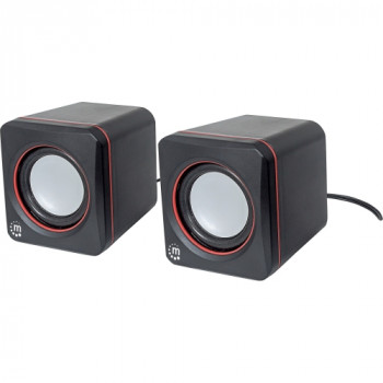 Manhattan 2600 Series 161435 2.0 Speaker System - 6 W RMS - Black