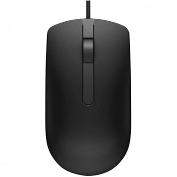 Dell MS116 Mouse - Optical - Cable - 2 Button(s) - Black
