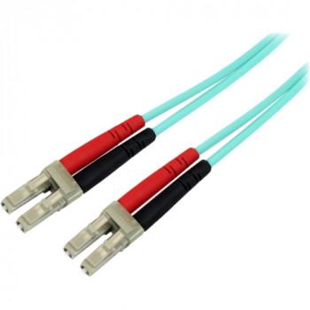StarTech.com 10Gb Aqua Fiber Patch cable - LC multi-mode (M) - LC multi-mode (M) - 5 m - fiber optic - 50 / 125 micron - aqua