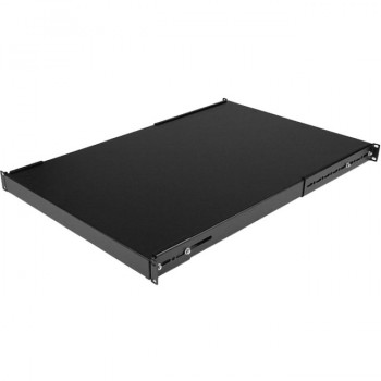 StarTech.com 1U Adjustable Depth Rack Mount Shelf - Heavy Duty Fixed Server Rack Cabinet Shelf - 175lbs / 80kg