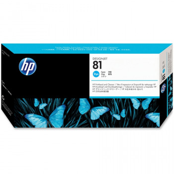 HP 81 Cyan Dye Printhead with Printhead Cleaner