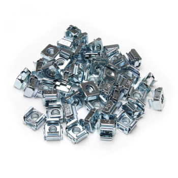 50 Pkg M5 Cage Nuts for Server Rack Cabinets - M5 cage nuts - Rack cage nuts - cage nuts