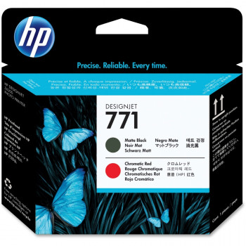 HP 771 Printhead - Matte Black, Red