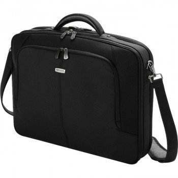 """Dicota MultiCompact D30143 Carrying Case for 39.6 cm (15.6"""") Notebook, Document, Accessories - Black"""