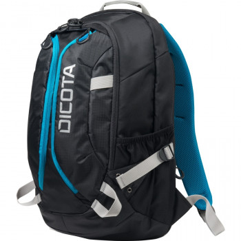 "Dicota Active Carrying Case (Backpack) for 39.6 cm (15.6"") Notebook - Black, Blue"