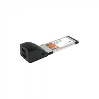 StarTech.com 2 Port ExpressCard Laptop USB 2.0 Adapter Card
