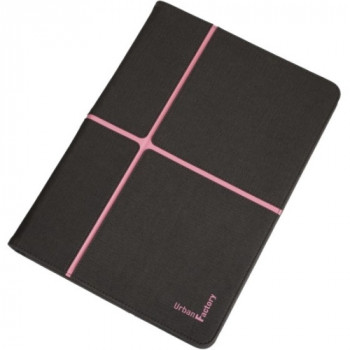 """Urban Factory Carrying Case (Folio) for 25.4 cm (10"""") Tablet - Pink, Anthracite Gray"""