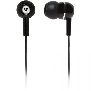 V7 HA100-2EP Wired Stereo Earphone - Earbud - In-ear - Black