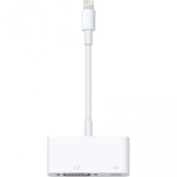 Apple Lightning/VGA Video Cable for Video Device, iPad, iPhone, TV, Projector - 1 Pack