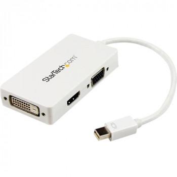 StarTech.com Travel A/V adapter: 3-in-1 Mini DisplayPort to VGA DVI or HDMI converter - white