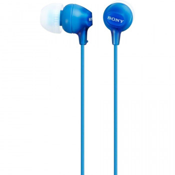 Sony MDR-EX15AP/LI Wired 9 mm Stereo Earset - Earbud - In-ear - Blue