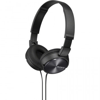 Sony MDR-ZX310APB Wired 30 mm Stereo Headset - Over-the-head - Supra-aural - Black