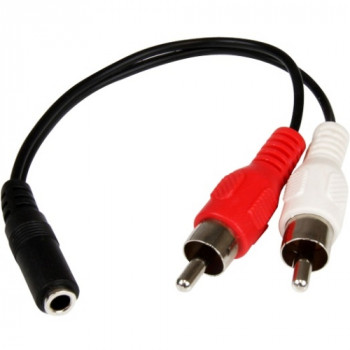 StarTech.com 6in Stereo Audio Cable - 3.5mm Female to 2x RCA Male