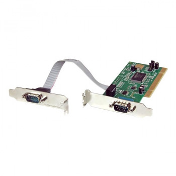 StarTech.com 2 Port PCI Low Profile RS232 Serial Adapter Card with 16550 UART - Low Profile 2 Port 16550 Serial PCI Card - Serial adapter - PCI - serial - 2 ports