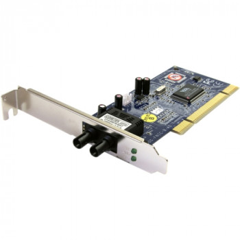 StarTech.com 100Mbps PCI Multi Mode ST Fiber Ethernet NIC Network Adapter 2km