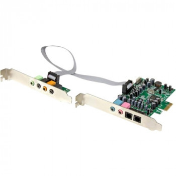 StarTech.com 7.1 Channel Sound Card - PCI Express - 24-bit - 192KHz