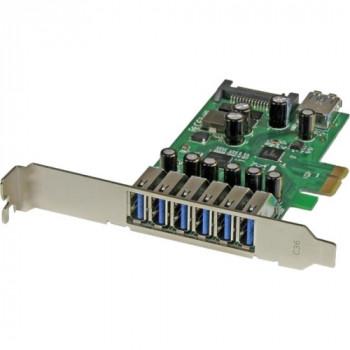 StarTech.com 7-Port PCI Express USB 3.0 card - Standard and Low-Profile Design