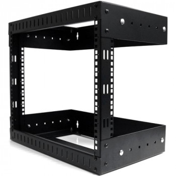 StarTech.com 8U Open Frame Wall Mount Equipment Rack - Adjustable Depth
