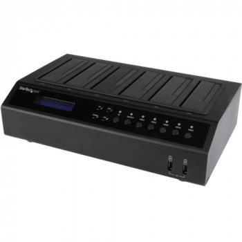 StarTech.com USB 3.0 / eSATA 6-Bay Hard Drive Duplicator Dock - 1:5 HDD / SSD Cloner and Eraser