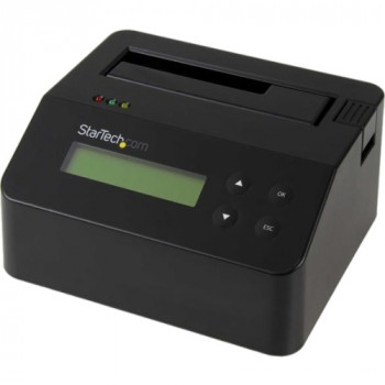 """StarTech.com USB 3.0 Standalone Eraser Dock for 2.5"""" and 3.5"""" SATA SSD/HDD Drives - Secure Drive Erase with Receipt Printing - SATA I/II"""