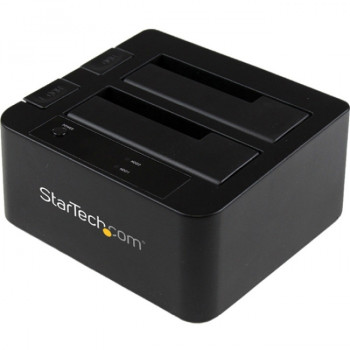 StarTech.com USB 3.0 / eSATA Dual Hard Drive Docking Station with UASP for 2.5/3.5in SATA SSD / HDD - SATA 6 Gbps