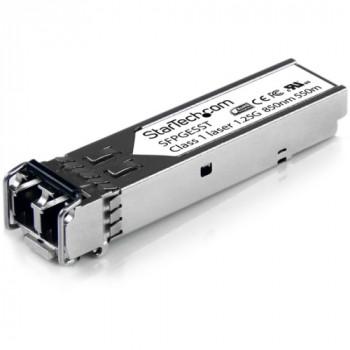 StarTech.com Cisco Compatible Gigabit Fiber SFP Transceiver Module MM LC w/ DDM - 550m (Mini-GBIC)