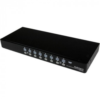 StarTech.com 16 Port 1U Rackmount USB KVM Switch Kit with OSD and Cables