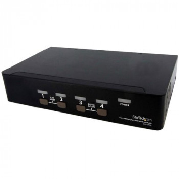 StarTech.com 4 Port USB DisplayPort KVM Switch with Audio