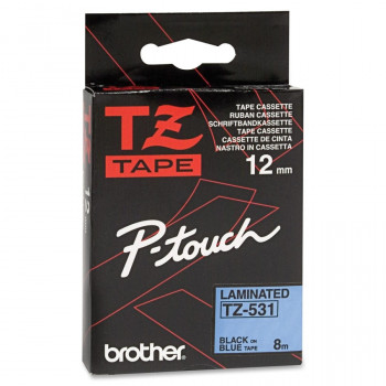 Brother TZE531 Label Tape - 12 mm Width x 8 m Length - 1 Roll