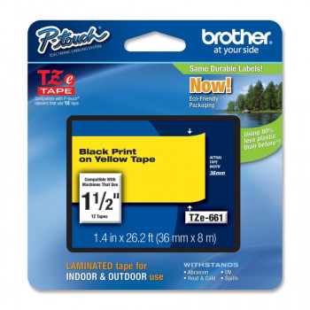 Brother TZE-661 Label Tape - 38.10 mm Width x 7.99 m Length - 1 Roll