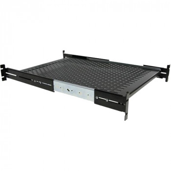 StarTech.com 1U Adjustable Depth Vented Sliding Rack Mount Shelf - 50lbs / 23kg