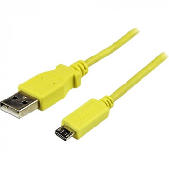 StarTech.com 1m Yellow Mobile Charge Sync USB to Slim Micro USB Cable for Smartphones and Tablets - A to Micro B M/M