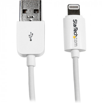 StarTech.com 1m (3ft) White Apple 8-pin Lightning Connector to USB Cable for iPhone / iPod / iPad