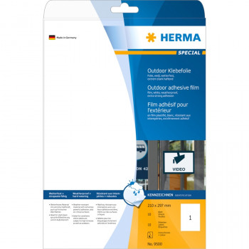 Herma 9500 ID Label - 210 mm Width x 297 mm Length - 10 Sheet
