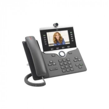 Cisco 8845 IP Phone - Wired/Wireless - Wall Mountable - Charcoal