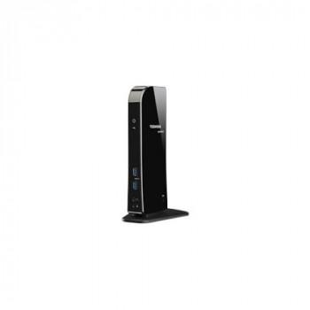 Toshiba Dynadock Port Replicator - USB - Glossy Black