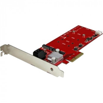 StarTech.com 2x M.2 NGFF SSD RAID Controller Card plus 2x SATA III Ports - PCIe - Two Slot PCI Express M.2 RAID Card plus Two SATA Ports