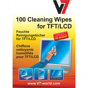 V7 Cleaning Wipe for Notebook, Display Screen