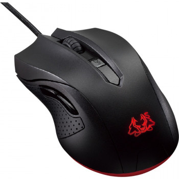 Asus Cerberus Mouse - Optical - Cable - 6 Button(s) - Black