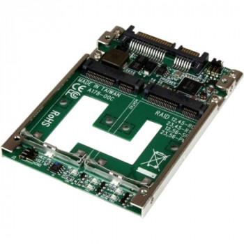 "StarTech.com Dual mSATA SSD to 2.5"" SATA RAID Adapter Converter"