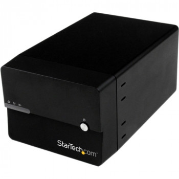 "StarTech.com USB 3.0/eSATA Dual 3.5"" SATA III Hard Drive External RAID Enclosure w/ UASP and Fan - Black"