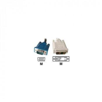 Connect 3 m DVI-A to VGA HD15 M Single Link Cord - Black