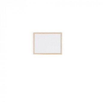 Bi-Office MP01001010 400 x 300 mm Drywipe Wood Frame Board - White