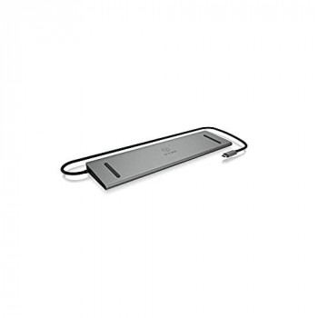 ICY BOX External USB-C Docking Station With Two x HDMI, One x VGA, SD/Micro SD, 3.5MM Jack Output, Three x USB3.0, USB Type C, Two Year Warranty