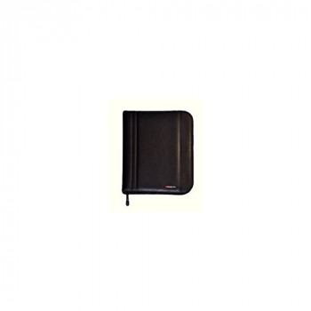 Monolith A4 Zip Fastening Folio Case - Black