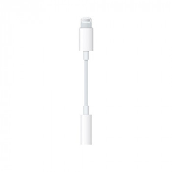 Apple Lightning to 3.5 mm Headphone Jack Adapter - Lightning to headphone jack adapter - mini jack (F) to Lightning (M) - for Apple iPad/iPhone/iPod (Lightning)