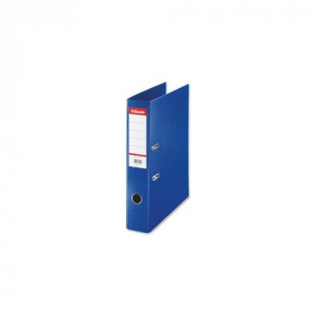 Esselte Lever Arch File PVC Slotted 70mm Spine Foolscap Blue Ref 48085 [Pack 10]